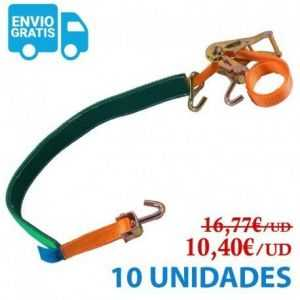 PACK 10 UDS. CINCHA DE AMARRE PORTACOCHES CON FUNDA - 35MM - 1.900KG